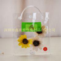 PVC透明手提袋定制 化妆品礼品袋 按扣手提袋 拉链防水袋