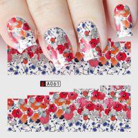 美甲贴纸 欧美日系大红花朵玫瑰 高雅艺术创意仿真饰品 指甲油贴