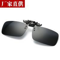 偏光墨镜男女夹片式太阳镜近视眼睛开车夜视驾驶方形钓鱼眼镜3555