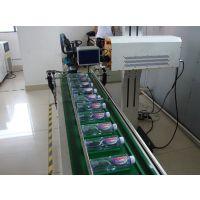 塑料包装盒包装袋生产日期条码在线高速激光打标机