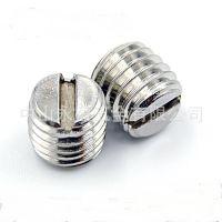 不锈钢一字螺丝 平端紧定螺丝 止付机米 开槽平头顶丝M3M4M5M6M8