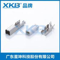 供应香港星坤USB2.0B型公头焊线连接器BM打印机接口USB接口