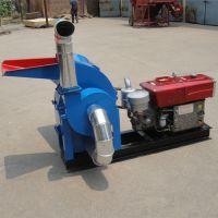 加厚材质秸秆铡草粉碎机 自动进料大型花生秧粉碎机