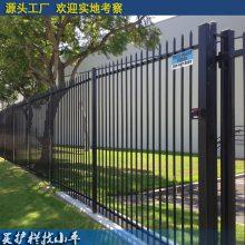 海口学校围墙焊接式栏杆 海南锌钢护栏厂家 海口市政围栏 开发工业区围墙栅栏现货