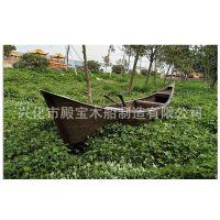厂家生产水上小木船/游玩用景区木船手划道具观光木船可定制