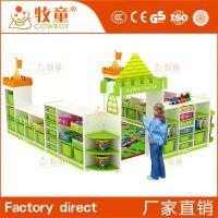 广州牧童幼儿园儿童专用简约现代风格实木书柜定制