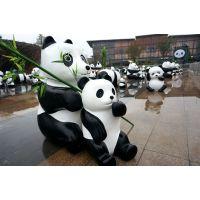 熊猫出租 玻璃钢模型卡通出租租赁 熊猫展商业美陈