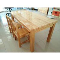 幼儿园儿童课桌椅进口松木长方桌幼儿课桌儿童学习桌实木桌椅餐桌游乐设备