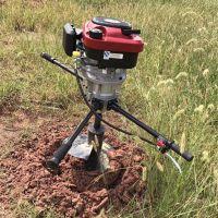汽油双人手提式深坑挖坑机 启航二冲程手提挖坑机 果园果树种植挖洞机
