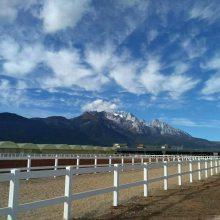 养马护栏,内蒙古草原围栏,PVC美式栅栏,马场防护