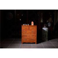 如金红木五斗柜-红木小件直销-古典中式木雕小件