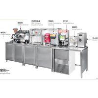 咖啡奶茶店吧台设备 制冰机 开水机 榨汁机 奶盖机冰沙机 不锈钢操作台支持定制