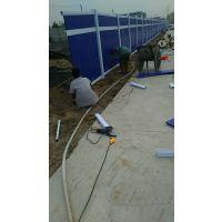 河南新乡厂家直销地铁施工围挡、pvc道路围挡、新型彩钢板围挡