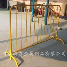 定制1.5米热镀锌烤 漆铁马 公路活动护栏 市政施工隔离警示铁马围栏 河南新力大量供应