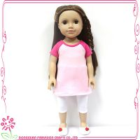 外贸出口18寸美国女孩娃娃睡衣儿童陪睡娃娃换装玩具