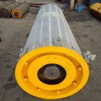 800x2500卷筒组 Q235B钢制卷组配件 齿轮盘 轴承座 油封盖 亚重