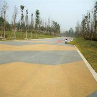 品石3cm彩色透水地坪-彩色透水树池地坪材料销售案例