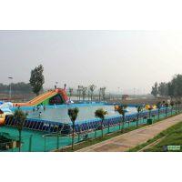 大型可移动支架水池 成人钢架游泳池 充气房子滑梯组合 儿童水上乐园