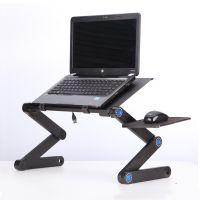 铝合金笔记本电脑桌可折叠床上书桌宿舍懒人散热支架站立办公桌