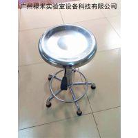 广州厂家直销不锈钢实验凳小圆凳滑轮凳防静电实验凳高度可调节 禄米