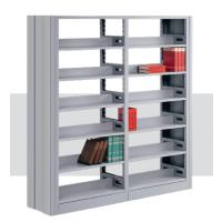 苏州佰亨家具 钢制书架 现代学校图书馆单双面书架 厂家直销