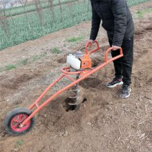 果树施肥钻洞机 拖拉机带大直径刨坑机 林业植树专用挖坑机