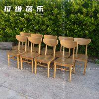星巴克经典木质咖啡椅咖啡厅实木桌椅定制