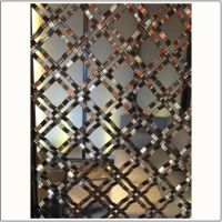 佛山售楼部镜面不锈钢镂空花格屏风加工