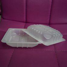 140*140鸭货塑料盒,pp气调锁鲜塑料保鲜盒