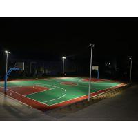 学校篮球场照明灯光配置 茂名乡村球场灯光设计方案 柏克8米灯杆批发