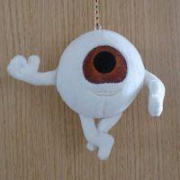 毛绒玩具定制厂家吉祥物公仔玩偶来图来样订做10CM眼睛小人短毛绒挂件