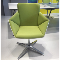 订制单人时尚休闲椅 高档咖啡厅用椅 绿色会议椅子 简约办公椅子 酒店招待椅
