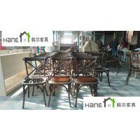 直销上海西餐厅桌椅 简约现代桌椅定制 实木桌椅订做工厂 韩尔家具供应