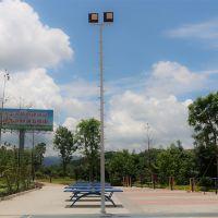 雅浩照明篮球场灯架安装 从化市生产灯杆预埋件厂家 球场场地画线