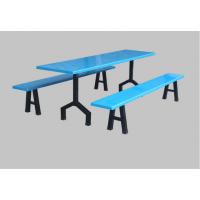 简约现代饭堂分体餐桌 连体餐桌生产厂家