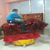 商洛景区疯狂刺激斗牛机郑州旺福游乐热销西班牙斗牛机玻璃钢无级变速设备