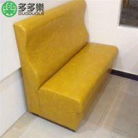 深圳厂家全国定做 皮艺茶餐厅卡座 双面组合沙发卡座 本地安装