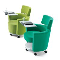 休闲沙发椅 众晟家具写字板沙发椅 布艺商务会客接待沙发