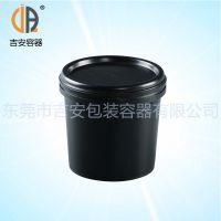PP 1L塑料油脂瓶 敞口压盖1000ml 大口油墨罐桶包装塑料瓶