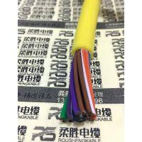橙色聚氨酯电缆线 柔性耐磨耐腐蚀电缆 耐寒超耐低温聚氨酯柔性电缆