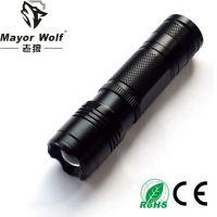 老狼厂家批发 26650强光手电筒 户外照明强光变焦防身用品