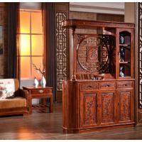 名琢世家厂全国供应红木家具客厅酒柜隔厅柜