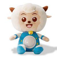 声光安抚喜洋洋毛绒玩具安抚发光婴幼儿童毛绒玩具短毛绒制作