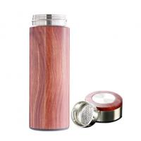 保温杯 双层真空水杯 不锈钢木纹杯 礼品杯定制