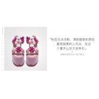 欧美时尚女鞋jeffrey campbell 厚底粉色花朵热卖罗马女式松糕底韩版凉鞋
