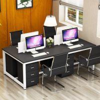 简约屏风办公桌四人位电脑桌椅组合办公家具职员工作位卡座批发