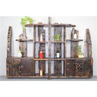 厂家直销老船木博古架实木古玩架多宝阁架老船木书架实木展示架