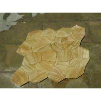莱阳昊磊石材供应天然黄木纹冰裂纹 大量库存