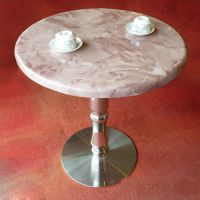 餐厅餐桌定做简约现代欧式餐桌咖啡厅圆桌一桌四椅