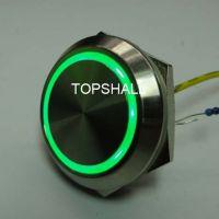 供应30mm防水按钮 带灯复位按钮 身长10mm短款节省空间金属按钮开关